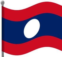 Laos Flag Waving Clip Art Download.