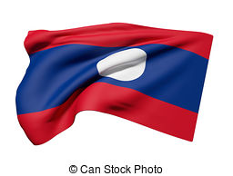 Lao people's democratic republic flag waving Illustrations and.
