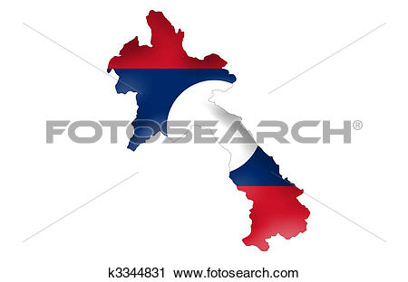 Clipart of Lao People's Democratic Republic k3344831.