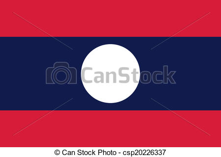 Vectors of Flag of Laos.