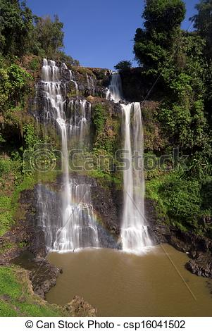 Stock Photography of Tad Yeung Waterfall, Laos.