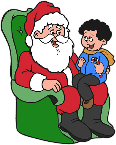 Santa's Lap Clipart.