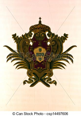 Stock Photography of Coat of Arms in Lapa Church.