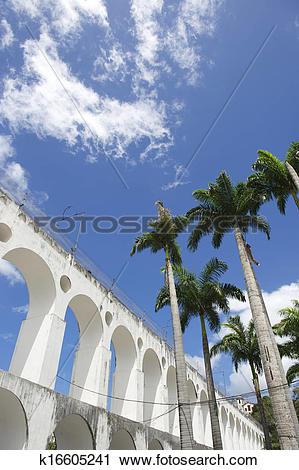 Clipart of Lapa Arches Rio de Janeiro Brazil k16605241.