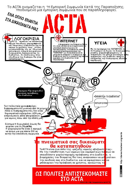 Free Clipart: ACTA STOP GREEK.