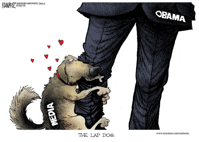 Michael Ramirez: The Media as Obama's Lap Dog.