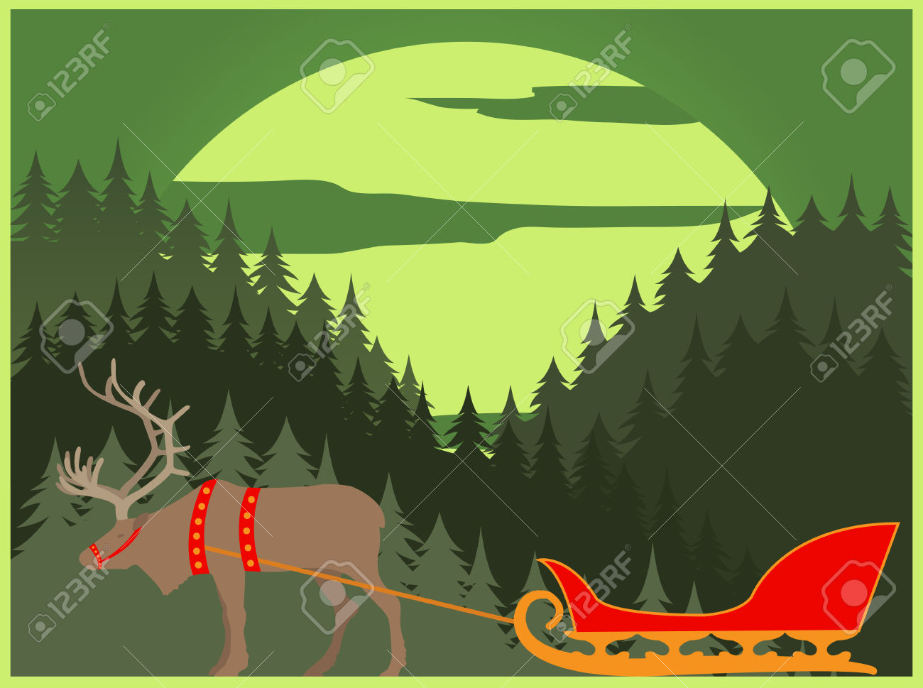 City Buildings Graphic Template. Lapland. Vector Illustration.