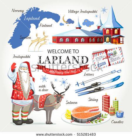 Lapland Santa Stock Photos, Royalty.