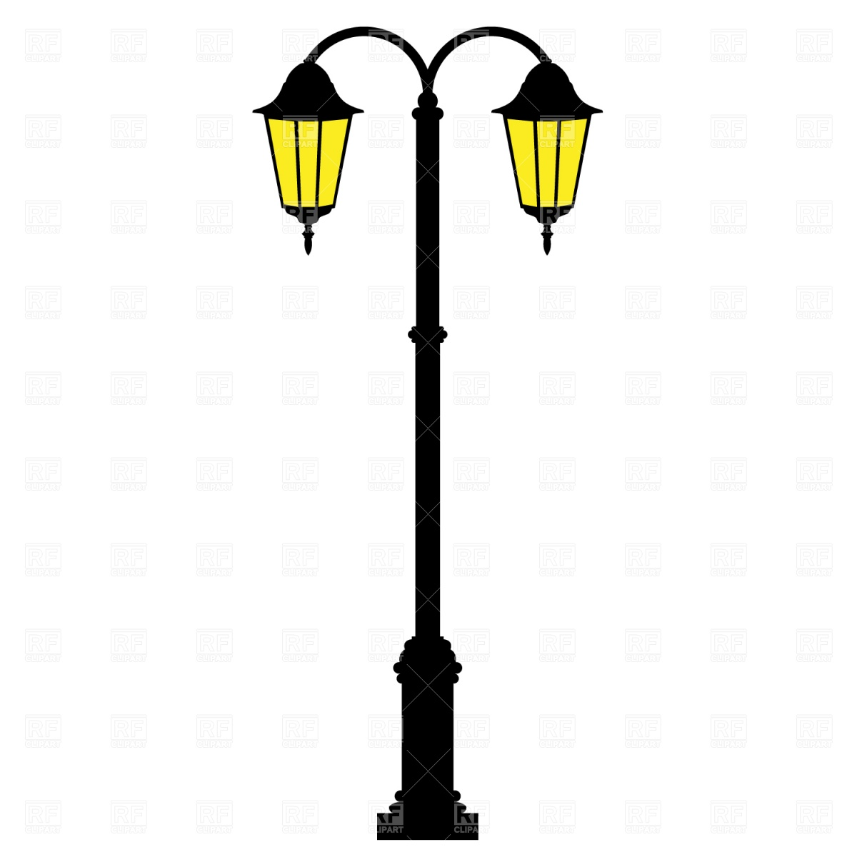 Street lamps clipart.