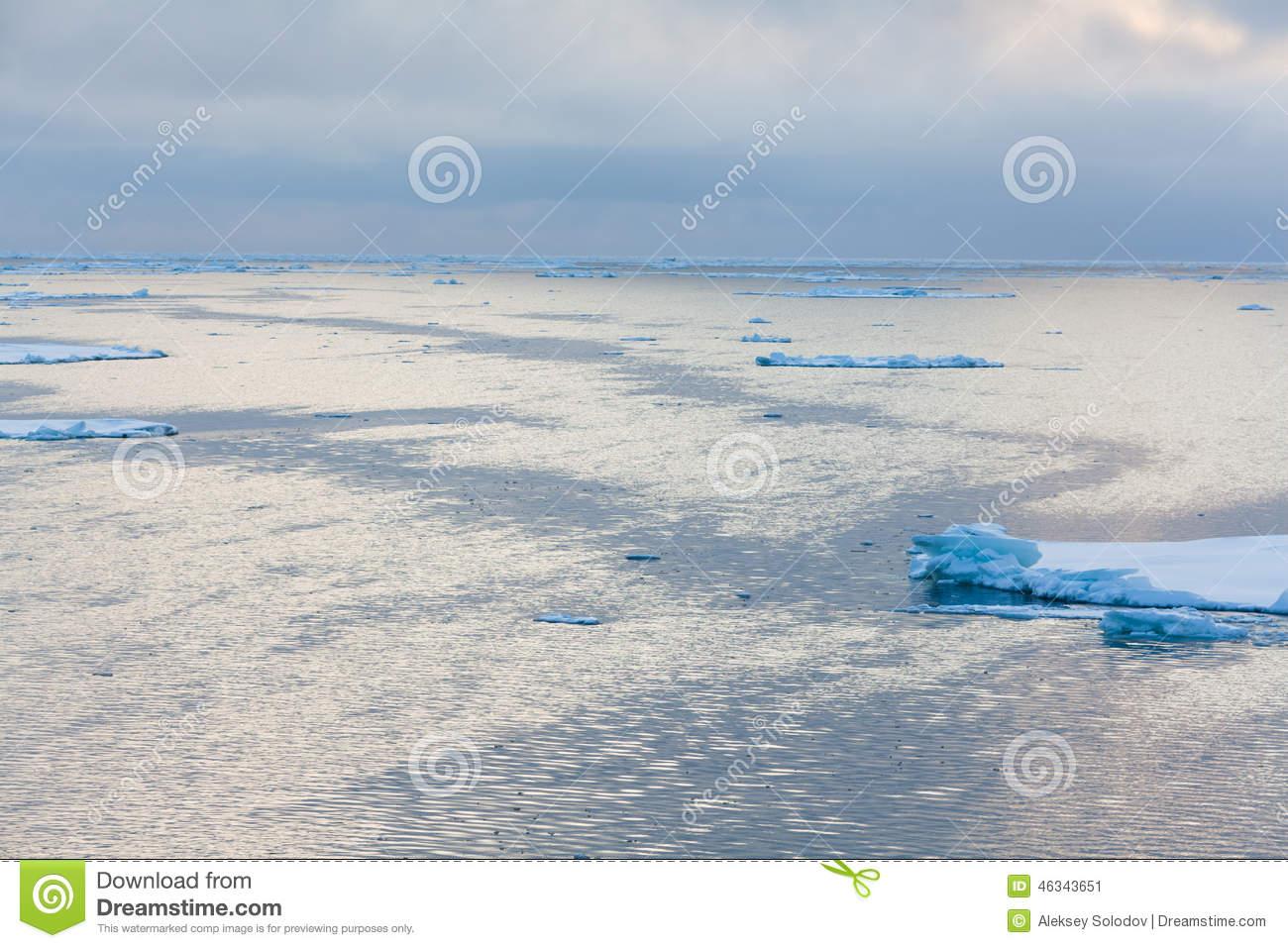 Laptev Sea Stock Photo.