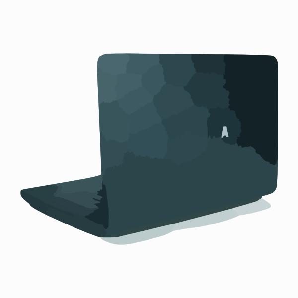Laptop Back Clipart.