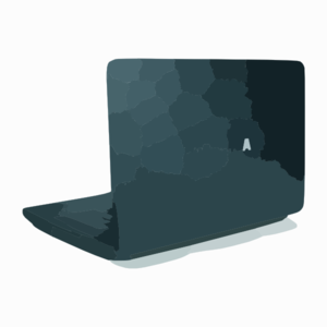 Toshiba satellite inch laptop rear side view clip art at.