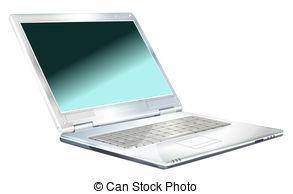 Clip Art of laptop.