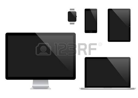 51,632 Laptop Monitor Stock Vector Illustration And Royalty Free.