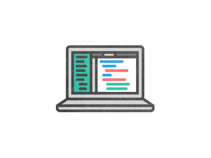 laptop illustration by Joel Glovier on Dribbble.