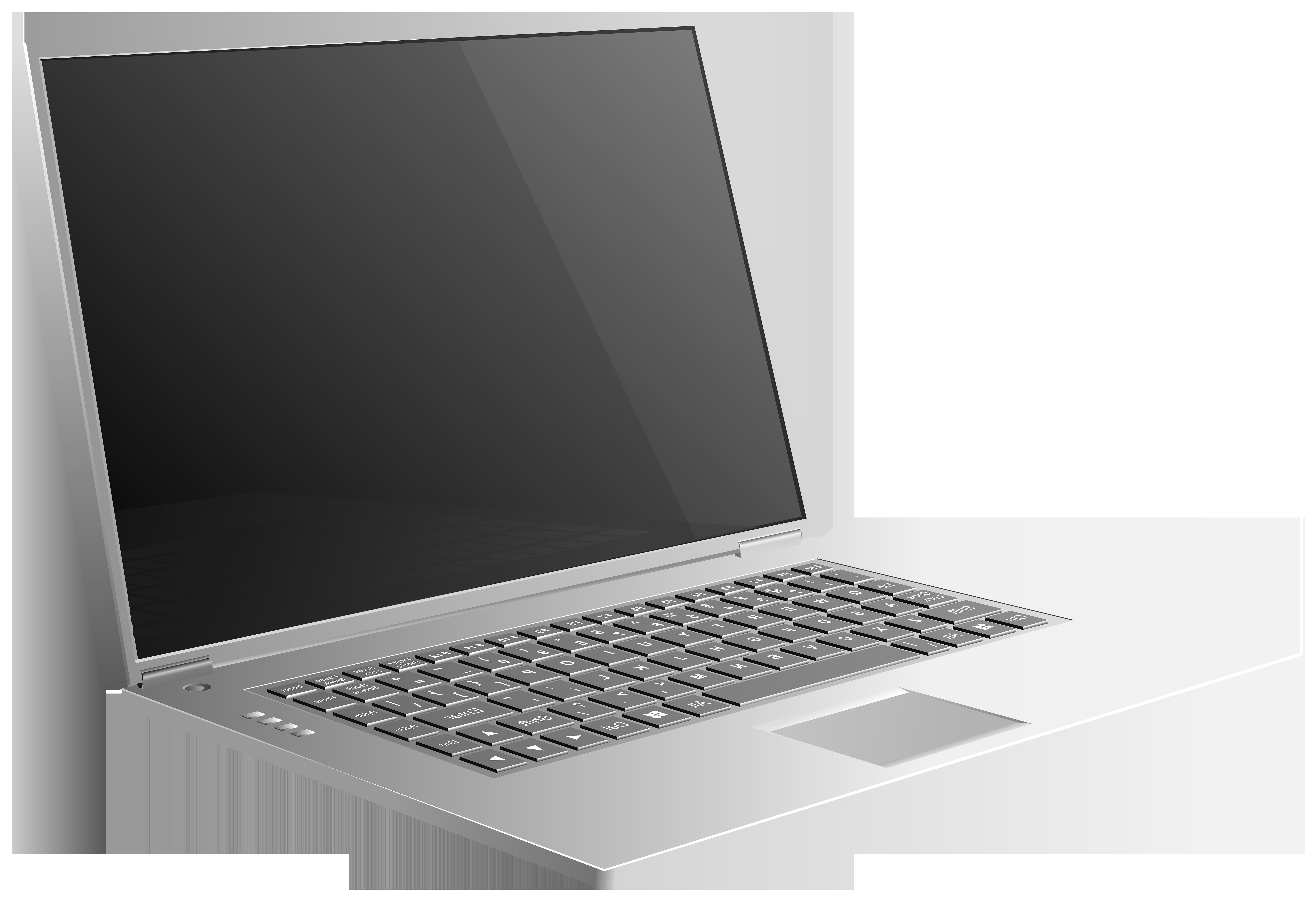 Open Laptop PNG Clip Art Image.