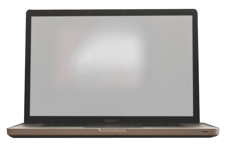 Laptop Notebook Front Free PNG Image Transparent Background.