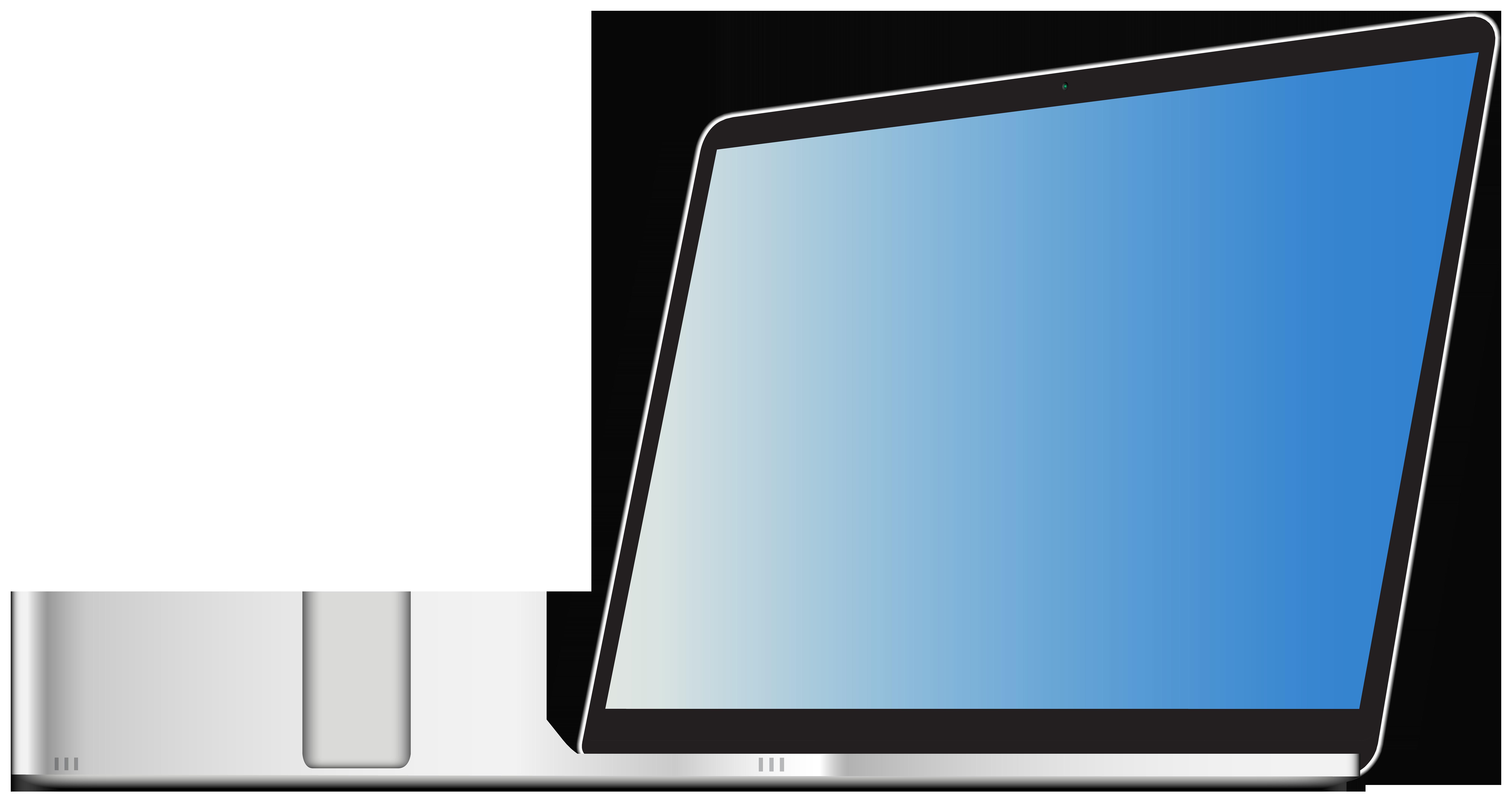 Laptop Transparent Clip Art PNG Image.