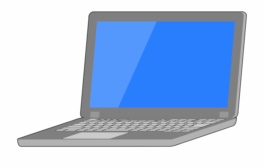 Laptop Vector Graphic.
