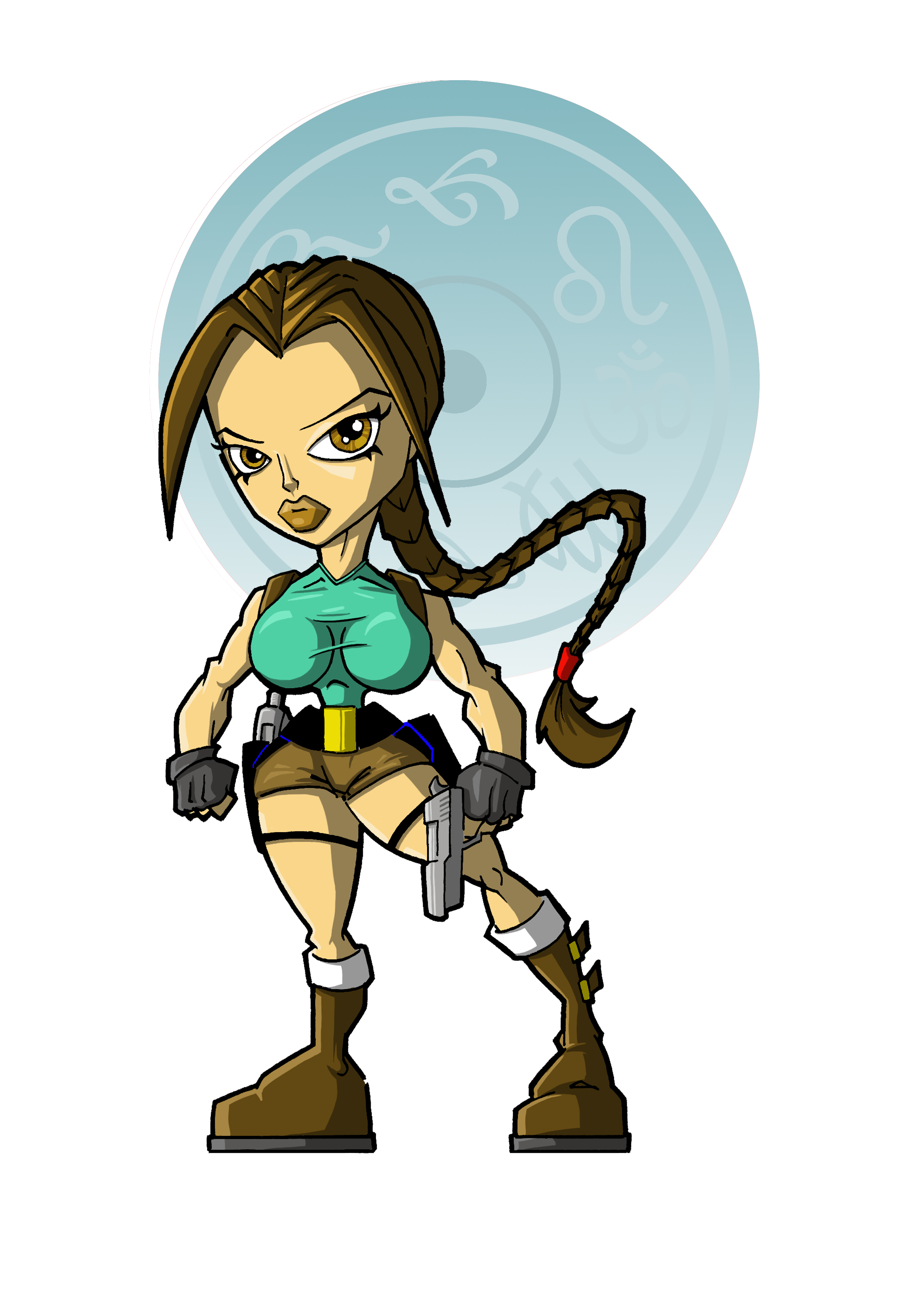 Lara Croft Cartoon.