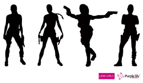 Free Lara Croft Vectors, vector graphics.