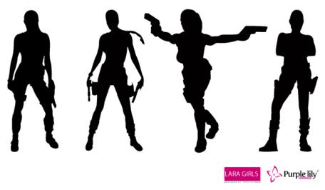 Free Lara Croft Vectors, vector graphics.