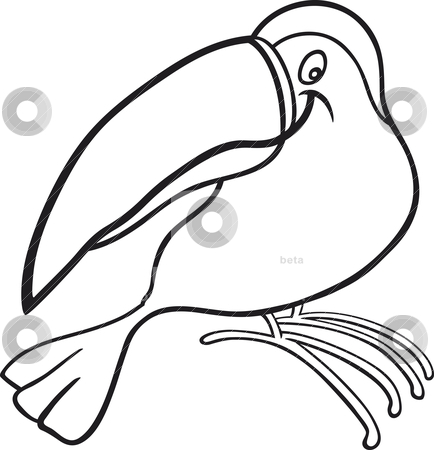 Beak clipart black and white.