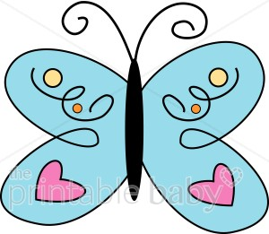 Heart Butterfly Clipart.