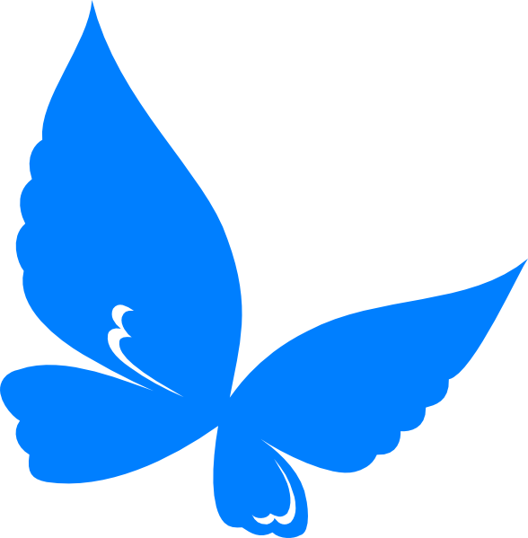 Blue.butterfly Clip Art at Clker.com.