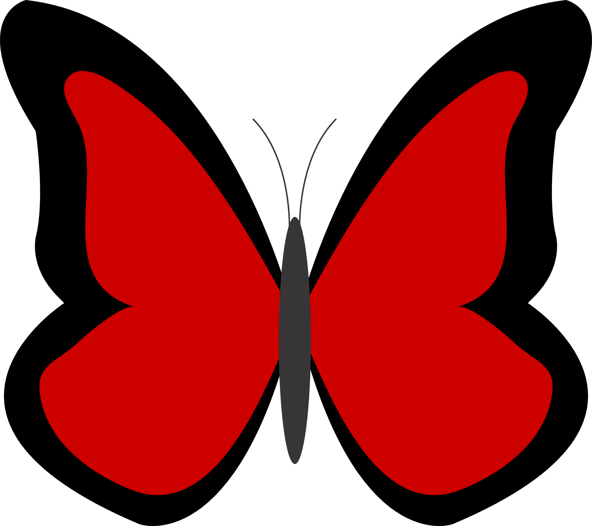 Red butterfly clip art.