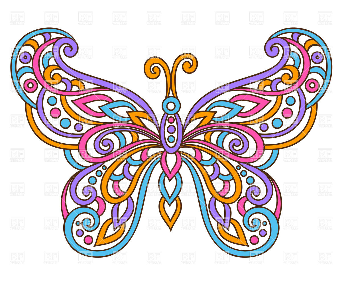 Big butterfly clipart.