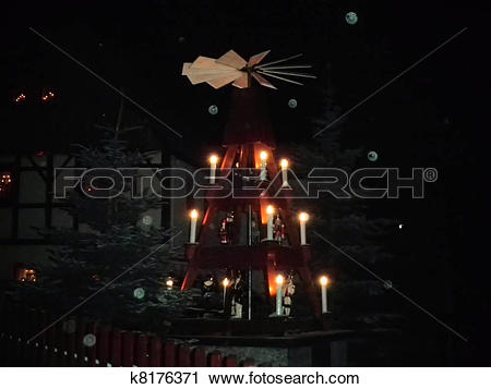 Stock Photography of Christmas pyramid in the Erzgebirge k8176371.