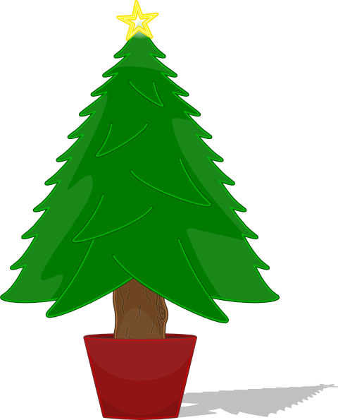Elkbuntu Glossy Christmas Tree Clip Art at Clker.com.