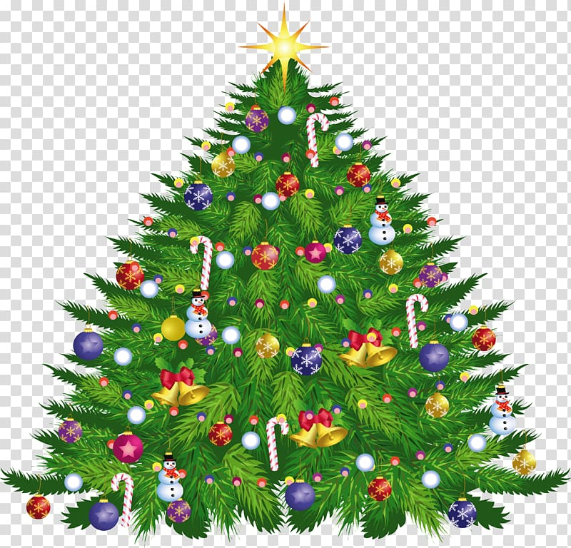 Christmas tree illustration, Large Christmas Deco Tree.