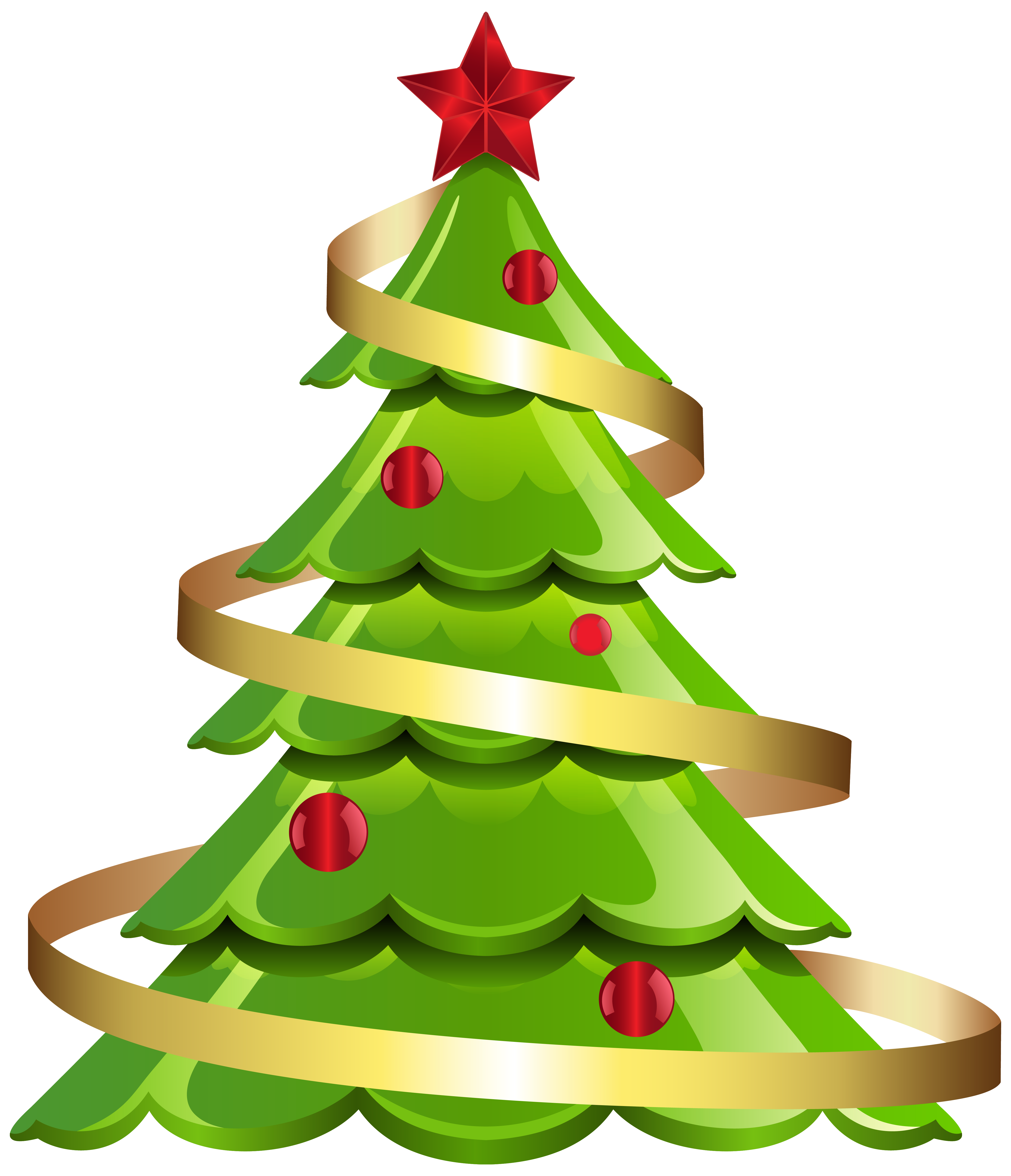 Christmas Tree Large PNG Clipart Image.