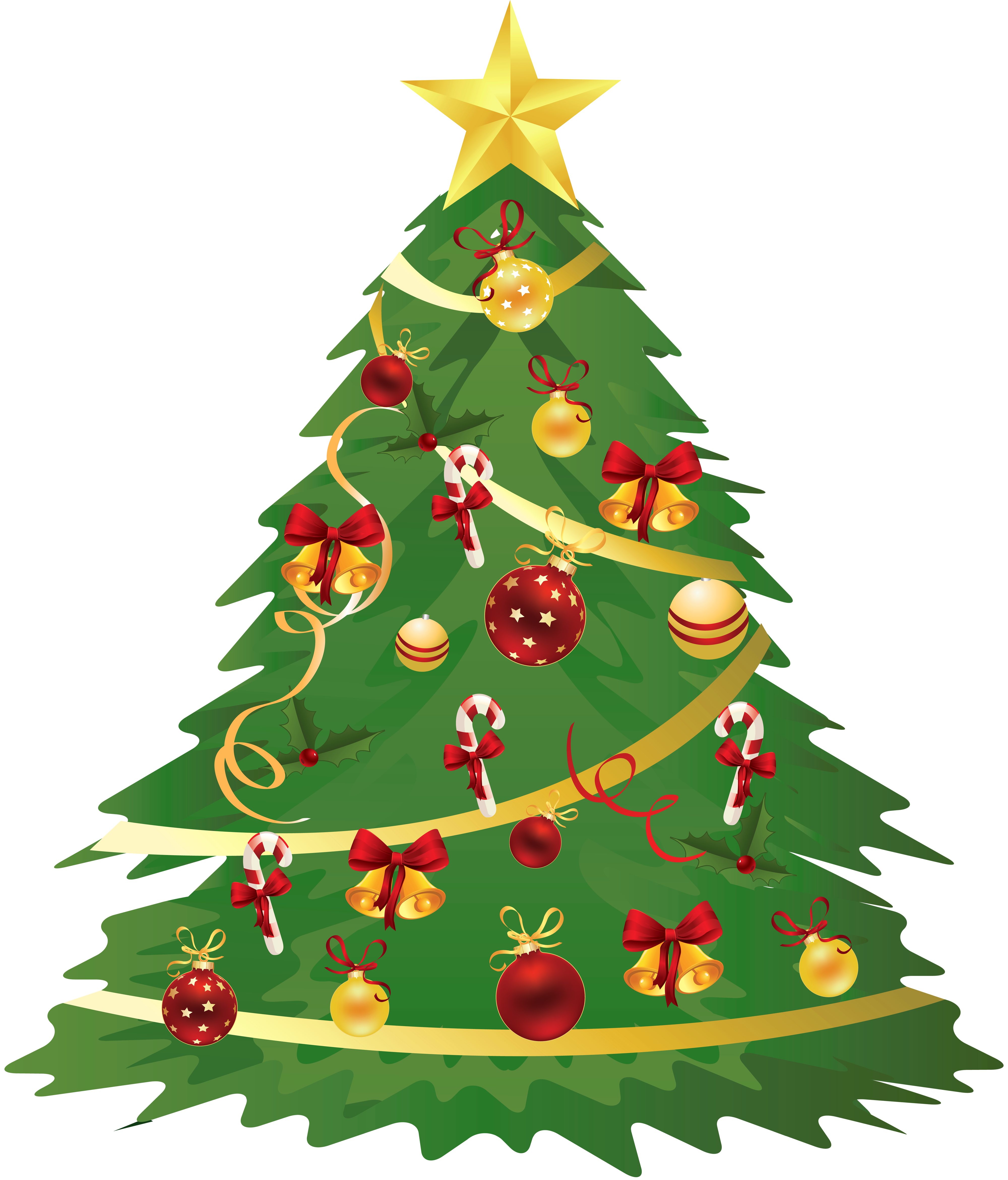 Christmas Tree Clipart Transparent Background.