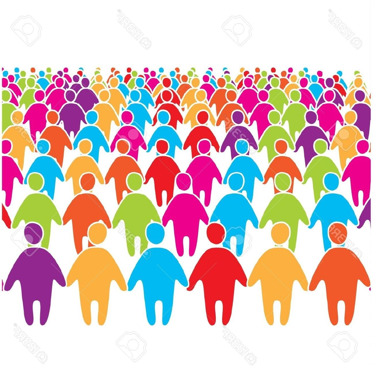 Crowd of people clipart Elegant Crowd clipart large crowd.