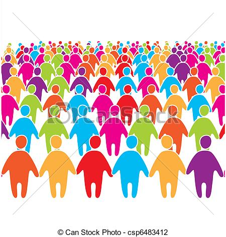 Download Large Crowd Clipart.