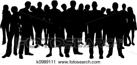 Large crowd of people Clip Art.