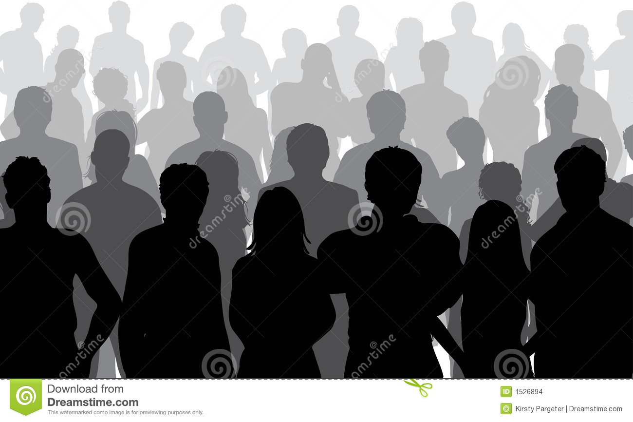 Close up crowd stock vector. Illustration of digital, woman.