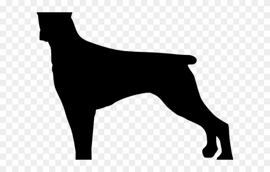 Silhouettes Clipart Large Dog.