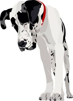 Large Dogs, Clip Art,.