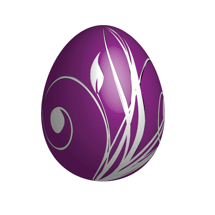 Large Purple Easter Egg.