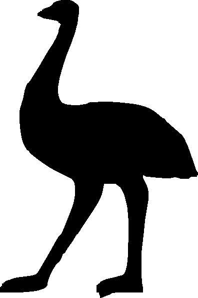 Emu Silhouette Clip Art at Clker.com.