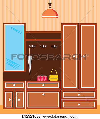 Clip Art of Entrance hall in apartment k12321638.