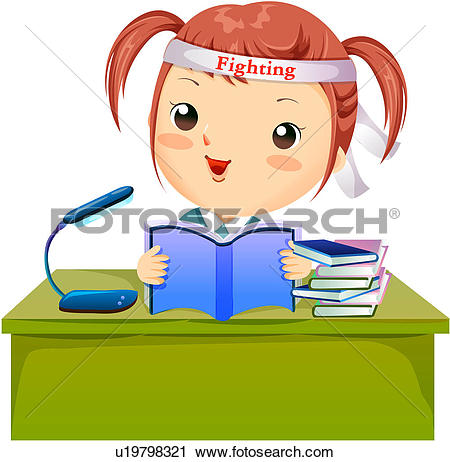 Clipart of preparation, book, entrance exam, image diary.
