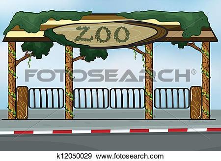 Clip Art of A zoo entrance k12050029.