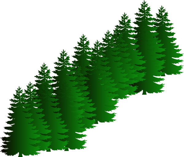 Evergreen Cluster Clip Art at Clker.com.