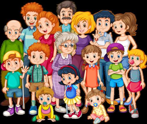 Large family clip art.
