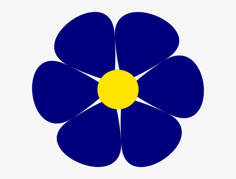 Blue Flower Clipart Large Flower.